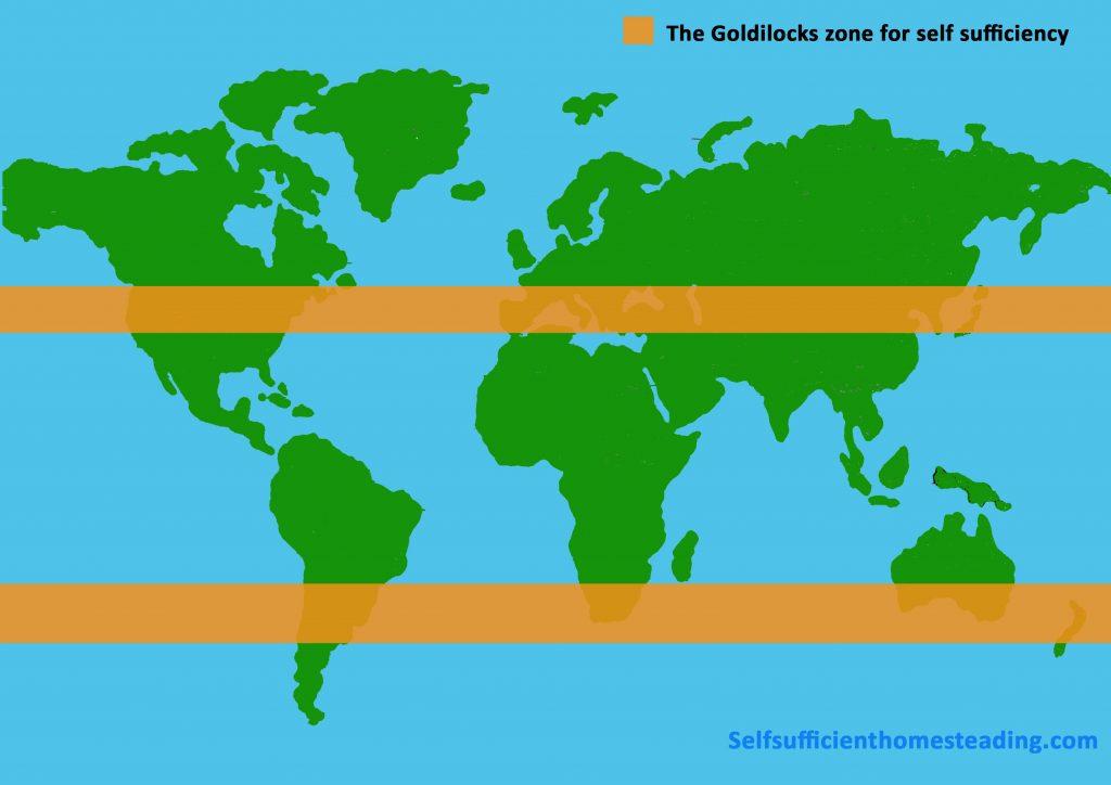 The Self Sufficiency Goldilocks zone