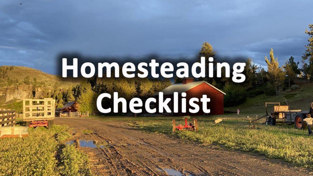 Homesteading checklist